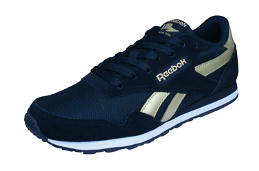 7c2336b7bfe Womens Reebok Classic Sneakers Royal Ultra SL Retro Shoes Black Gold - See  Sizes