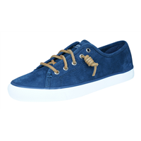 Sperry Seacoast Wash Womens Leather Trainers / Shoes - Navy
