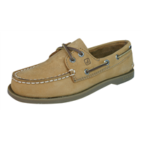Sperry A/O Sahara Leather Boys Deck / Boat  Shoes - Brown
