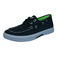 Sperry Halyard Boys Deck / Boat  Shoes - Black Grey