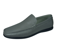 Sledgers Khan Loafer Mens Slip on Leather Shoes - Grey