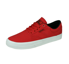 Supra Cobalt Mens Canvas Casual Trainers / Shoes - Red