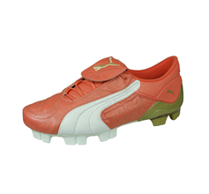 Puma V Konstrukt II GCi FG Womens Leather Football Boots - Coral