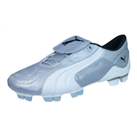 Puma V Konstrukt II GCi FG Womens Leather Football Boots / Cleats - Silver