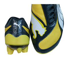 Puma V1.08 FG Boys Football Boots / Cleats - Yellow