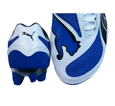 Puma V1.08 FG Boys Football Boots / Cleats - Blue