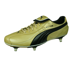 Puma King XL SG Mens Leather Football Boots / Cleats - Gold