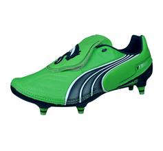 Puma V1.11 K SG Mens Leather Football Boots / Cleats - Green