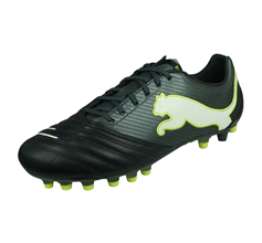 Puma Powercat 2.12 Synthetic Grass Mens Leather Football Boots - Black