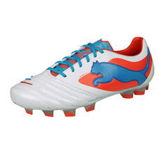 Puma PowerCat 1 FG Mens Leather Football Boots - White