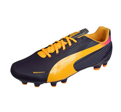 Puma evoSPEED 4.2 FG Boys Football Boots Firm Ground - Purple