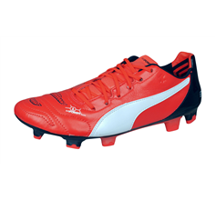Puma evoPOWER 1.2 Leather FG Mens Firm Ground Football Boots - Orange