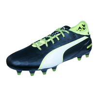 Puma evoTOUCH 2 FG Mens Leather Football Boots / Cleats - Black