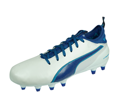 Puma evoTOUCH 1 FG Jr Leather Boys Football Boots Firm Ground - White