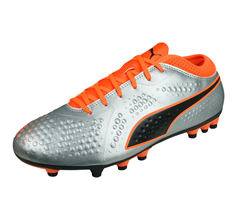 Puma ONE 4 Synthetic AG Mens Football Boots - Silver