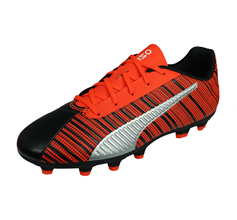 Puma One 5.4 HG Jr Boys Football Boots Hard Ground - Black and Red