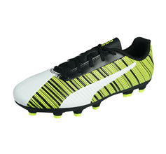 Puma One 5.4 HG Jr Boys Football Boots Hard Ground - White and Black