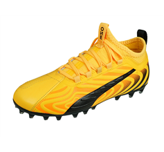 Puma ONE 20.3 MG Jr Boys Leather Multiground Football Boots - Yellow
