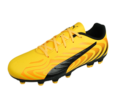 Puma One 20.4 HG Jr Boys Football Boots Hard Firm Ground - Yellow
