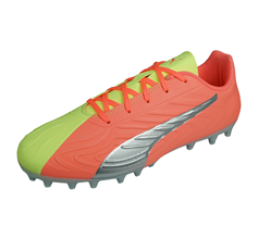 Puma ONE 20.4 MG Jr Boys Multiground Football Boots - Yellow and Peach
