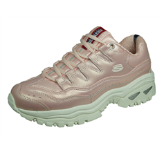 Skechers Energy Glacier Views Womens Leather Trainers - Rose