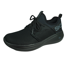 Skechers Go Run Fast-Valor Womens Running Shoes / Trainers - All Black