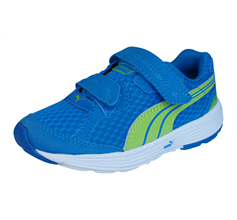 Puma Descendant V Unisex Running Trainers / Shoes - Blue and Green