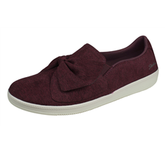 Skechers Madison Ave My Town Womens Slip on Walking Shoes / Trainers - Burgundy