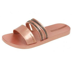 Ipanema Glam Slide Crystal Womens Flip Flops / Sandals - Rose