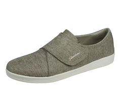 Skechers Madison Ave Distinctively Womens Hook and Loop Shoes - Taupe