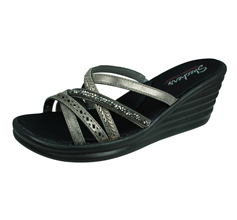 Skechers Rambler Wave New Lassie Womens Wedged Sandals - Silver
