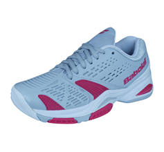 Babolat SFX All Court Womens Tennis Trainers / Shoes - Grey and Pink