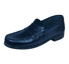 Start Rite Penny 2 Girls Leather Slip On School Shoes - Dark Navy