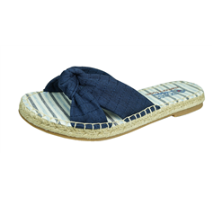 Skechers Bobs Maldives Womens Soft Woven Fabric Sandals - Navy