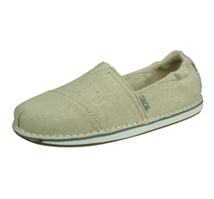 Skechers BOBS Chill-Cross Paths Womens Slip On Shoes - Beige