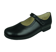 Start Rite Delphine Girls Leather School Shoes / Mary Jane - Black