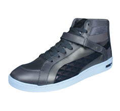 Puma The Key Quilt Womens Leather Mid Top Trainers / Shoes - Bronze