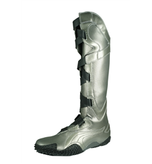 Puma Mostro Alto Met Womens Knee High Boots Rare - Aged Silver