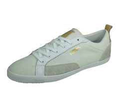 Puma Slim Court Citi Series Mens Leather Trainers / Shoes - White