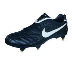 Nike Tiempo Legend III SG Mens Leather Football Boots / Cleats - Black