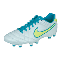 Nike Tiempo Mystic IV FG Womens Leather Football Boots / Cleats - White