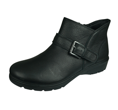 Skechers Metronome Mod Squad Womens Leather Ankle Boots - Black