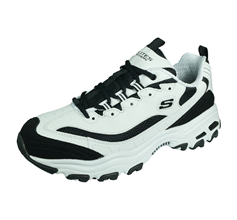 Skechers D'Lites Mens Trainers Memory Foam - White