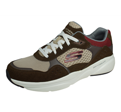 Skechers Meridian Ostwall Mens Walking Trainers / Shoes - Brown