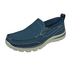 Skechers Superior Milford Mens Slip On Shoes Relaxed Fit - Blue