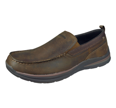 Skechers Superior 2.0 Jeveno Mens Slip On Leather Loafers / Shoes - Brown