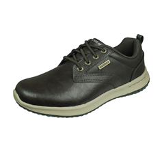 Skechers Delson Antigo Mens Relaxed Fit Shoes Waterproof - Brown