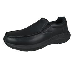 Skechers Parson Magro Mens Slip On Leather Loafers / Shoes - Black