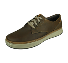 Skechers Moreno Gustom Mens Leather Trainers Casual Fit - Brown