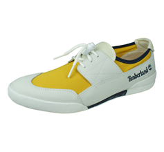 Timberland TBL 30 Mens Deck / Boat Shoes - White and Yellow